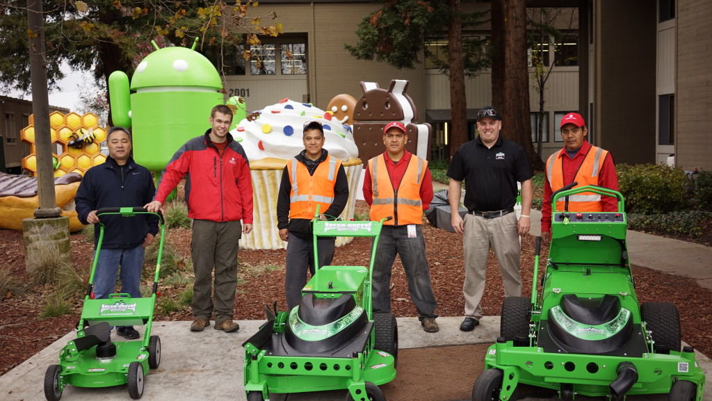 Mean Green battery powered commercial lawn mowers at google