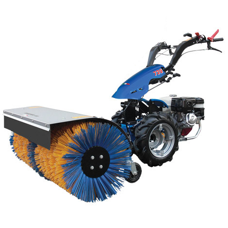 BCS-power-sweeper-brush attached to tractor