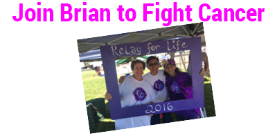 Brian Santo, American Cancer Society Relay for Life