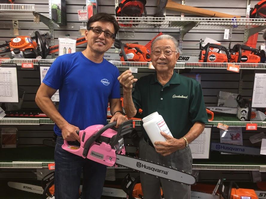 Brian Santo and Ray Matsumoto from Gardenland Power Equipment