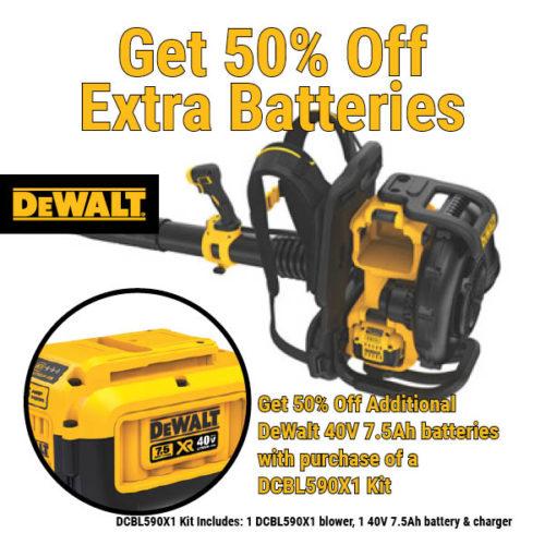 Dewalt DCBL590X1 battery leaf blower