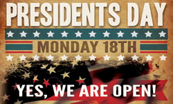 Gardenland is Open on Presidents Day