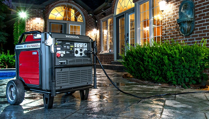 Using a gas powered generator during the PG&E Power Outage